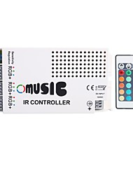 3A 3-Channel RGB LED Music IR Controller with Multifunction Remote Controller for RGB LED Strip Lamp (DC 12V)