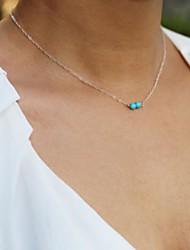 Women's European Fashion Turquoise   Alloy Skinny Pendant Necklace (1 Pc)