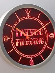 nc0293 negozio di tatuaggi penetrante regalo neon ha condotto l'orologio da parete