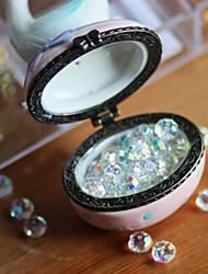 Lureme®Vintage White Ceramic Jewelry Box(White)(1 Pc)