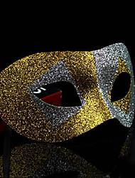 maschera di halloween lucentezza metallica misteriosa festa in costume (colori assortiti)