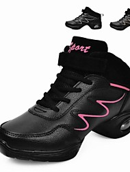 Jazz Women's Sneakers Low Heel  Real Leather Breathable Synthetic Dance Shoes(More Colors)