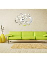 Style moderne bricolage 3d nouvelle acrylique miroir simple horloge murale