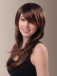 Temperament Naturally Slightly Curly Long Hair Wigs