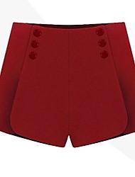 женские случайные равнина твидовые брюки