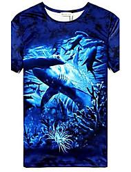 tortugas marinas tres dimensiones de manga corta camisetas de los hombres moumtaim