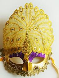 павлин отображается нормально партия хвост перо Хэллоуин маскарад маски-желтый цвет