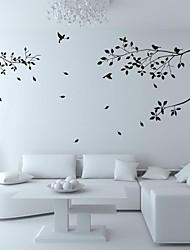 Tatuajes de pared pegatinas de pared, árbol de pvc pájaro pegatinas de pared