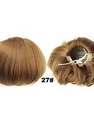 Fluffy Clip In Hair Wrap Synthetic Hair Pieces