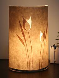 Applique 1 fleur lumière motif parchemin abat-jour 220v