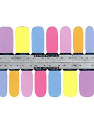 5x14pcs mooie schattige pure kleur nail art stickers