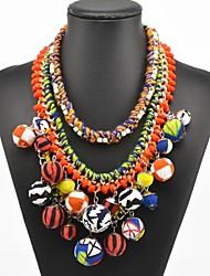 bohemia collar de bolas de múltiples colores de las mujeres
