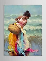 personas pintura al óleo pintados a mano, decorados por Steve Henderson con marco de estirado
