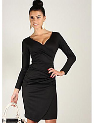 Beila  Women's V Neck Slim fit  dress