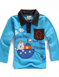 jongen is in de lente en de herfst outfit 100% katoen borduren lange mouw t-shirt