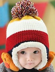inverno listrado patas das crianças, além de veludo de lã mescla cap