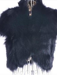 Women's Short Style Fur Shawl Fur Coat