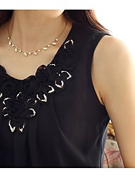 LULU Women's Sleeveless Strap Chiffon Shirts