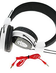 WZS-ergonomische hallo-Fi-Stereo-Kopfhörer mit Mikrofon-(schwarz + weiß)