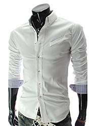 Fengshang Männer Karomuster Shirt