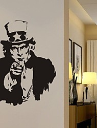 Wall Stickers Wall Decals, I Want U Uncle Sam PVC Wall Stickers