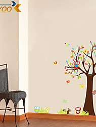 ZOOYOO® Removable owl and monkey play in the nature of  Wall Stickers Hot Selling Wall Decals For Home Decor