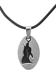 Classic Ellipse Animal Shape Men's Pendant Necklace(1 Pc)