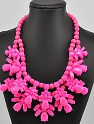 Women's Resin Flower Pattern Necklace