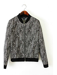 Women's Floral Print Cut Coat