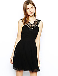 ORG Women's Lace Joint Backless Sleeveless Dress