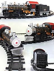 classico giocattoli elettrici batteria treno ferroviario ferrovia con il suono + luce + di fumare