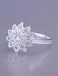 anel de girassol 925 das mulheres da boneca da sorte