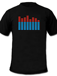 Camiseta com LED Espectro Musical (4xAAA)