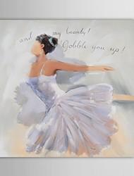 mano de la señora de personas pintura al óleo pintadas baile bailarina de niña con marco de estirado