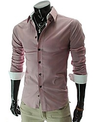 Men's Lapel Fashion Fringe Long Sleeve Shirt