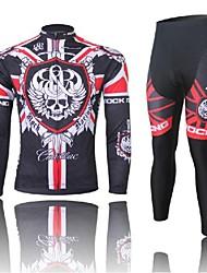 al oeste biking® cráneo verano de la roca de la manga llena de bicicleta de montaña de ropa traje mtb bicicleta pantalones de ciclismo