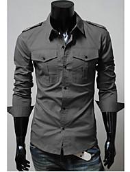 ocasional forma camisa básica macia dos homens da cidade