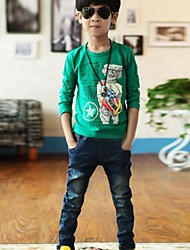 Boy's Fashion Joker And Personality Jeans