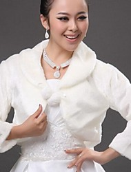 Wedding / Party/Evening Faux Fur Fur Wraps Coats/Jackets Sleeveless