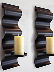 Metal Wall Art Wall Decor,Type S Candlestick Wall Decor Set Of 2