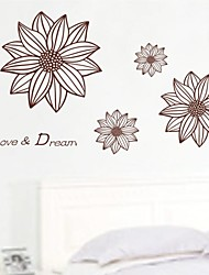 Wall Stickers Wall Decals, Vintage Flower Home Decor Posters Wall Stickers