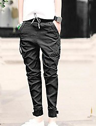 Men's Tapered Drop Crotch Cuffed Jogger Pants Trousers