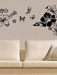 Wall Stickers Wall Decals, Home Decoration Flower PVC Poster Wall Stickers