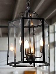 Pendant Light ,  Traditional/Classic Vintage Retro Lantern Country Painting Feature for Mini Style MetalLiving Room Bedroom Dining Room