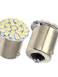 Queue Merdia 1156 22x1206SMD LED blanche lumière de voiture / Clignotants (2 PCS / 12V)