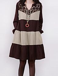 vestido de manga larga floja de k.dama mujeres