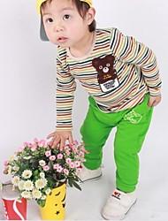 Boy'S Striped Bear Sports Suit