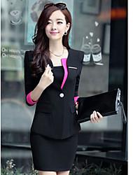 mode élégant contraste couleur moulantes affaires suits niliya femmes