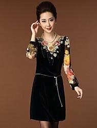 vestido de veludo equipada elegent do yinqian®women