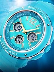 Женские Спортивные часы Японский кварц LCD / Календарь / Секундомер / Защита от влаги / С двумя часовыми поясами / тревога Pезина Группа